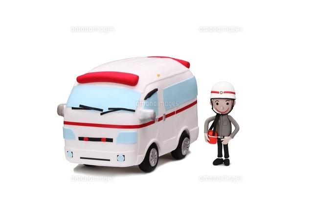 救急車と救急隊員[09522000711]  写真素材・ストックフォト・画像 ...