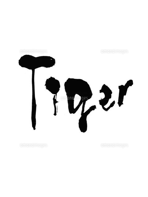 Tigerの文字(白地に黒字)[1022...