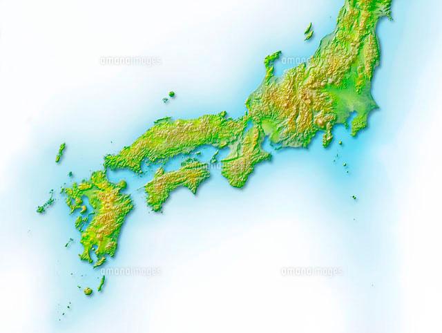 日本 西日本 地図 無料 : 西日本地図[10263000006]| 写真 ...
