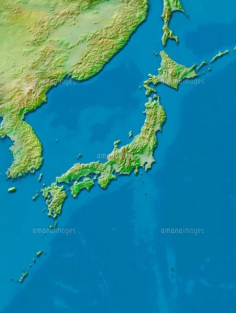 日本列島地図[10263000162]| 写...
