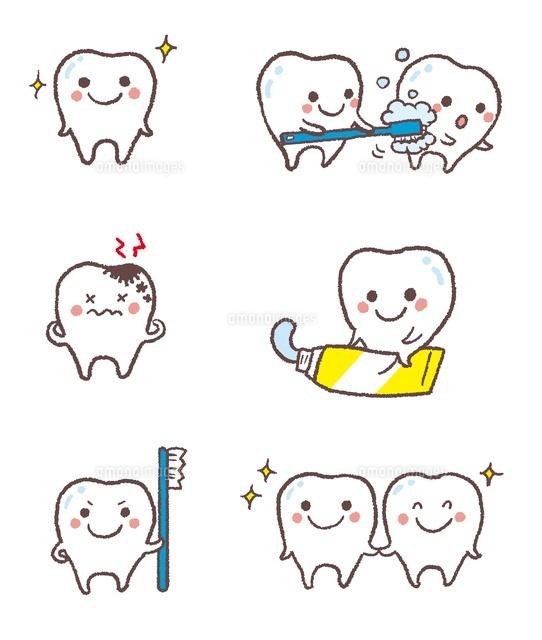 元気な歯、虫歯、歯磨きを促す歯[10423000598]| 写真素材・ストックフォト・画像・イラスト素材|アマナイメージズ