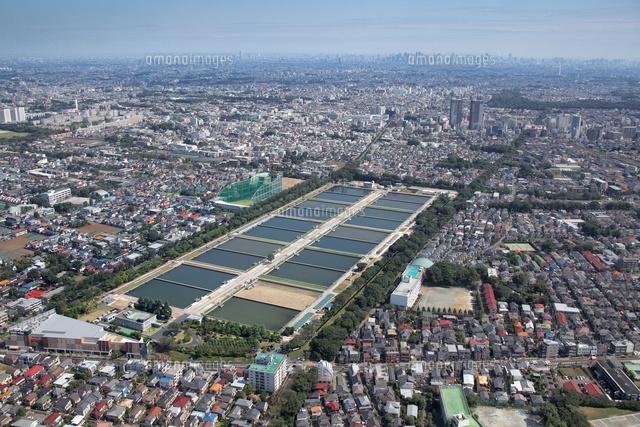 東京都水道局境浄水場の航空写真