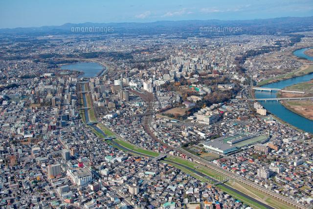 水戸市中心市街地の航空写真[106...