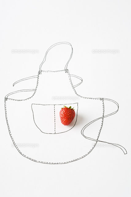Strawberry and drawing of apron