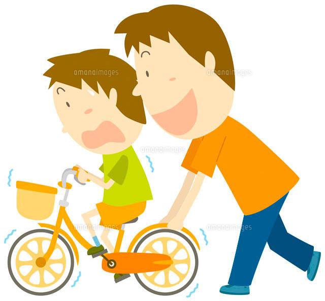 自転車の練習 イラスト[11002026...
