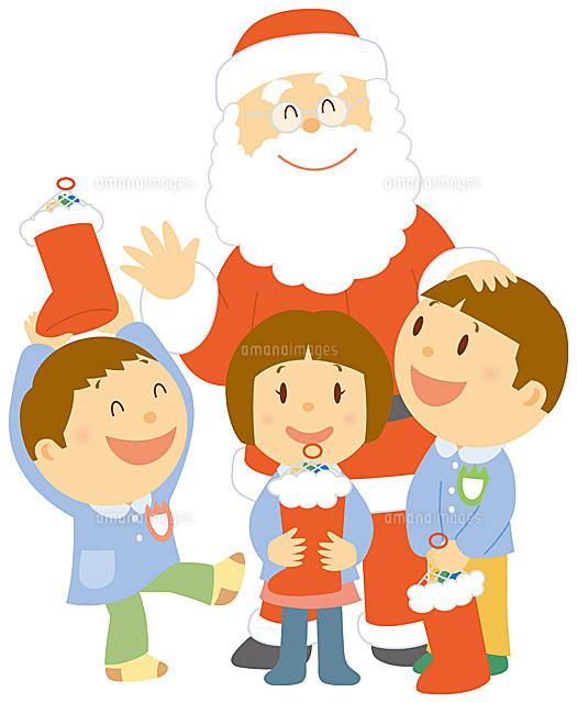 サンタクロースにプレゼントを貰...