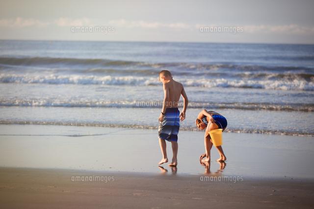 girl and boy on beach north myrtle beach south carolina united