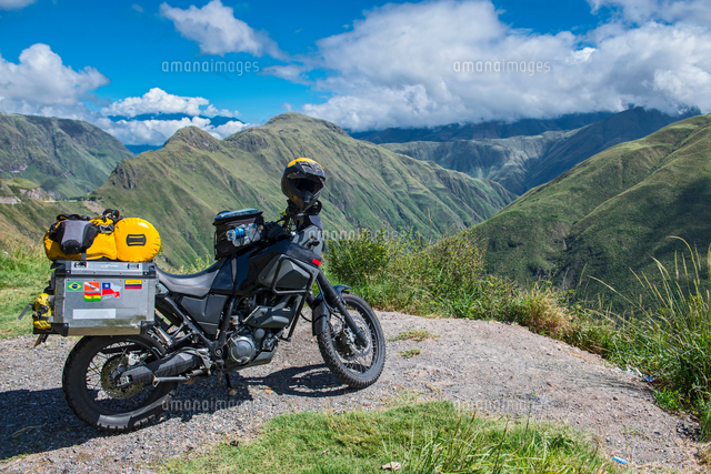 touring adventure motorbike in the mountains of colombia popayan