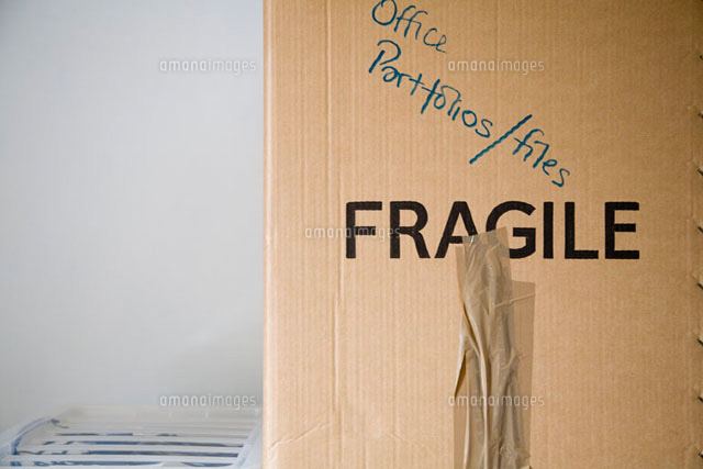 cardboard box labeled for moving 11016012402 写真素材 ストック
