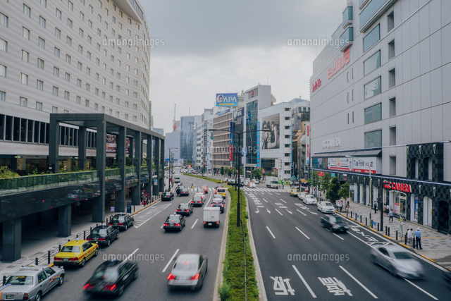赤坂見附付近の外堀通りの交通[1...
