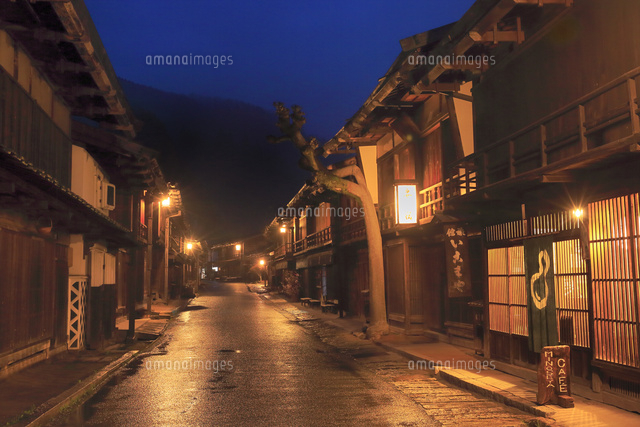 木曽 妻籠宿の夜景[11076031608]...
