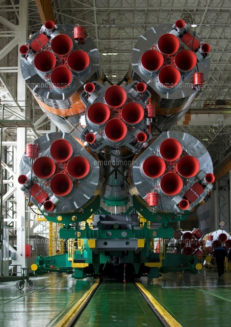 The boosters of the Soyuz TMA-...