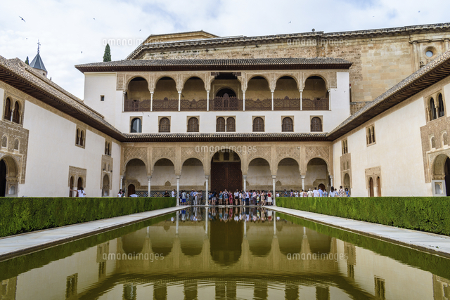exterior view alhambra palace granada andalusia spain
