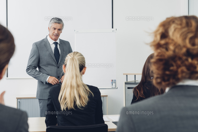 mature man giving business presentation 11094004728 写真素材