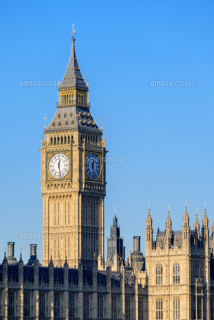 clock tower of big ben elizabeth tower above palace of westminster