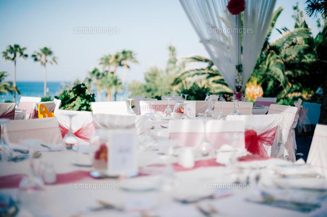 作品番号:11115027903 作品タイトル:Decorated Tables At Wedding Ceremony