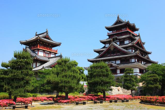 新緑の京都 伏見城天守閣[280210...