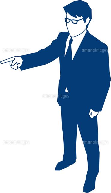 指差し指示をするビジネスマン[6...