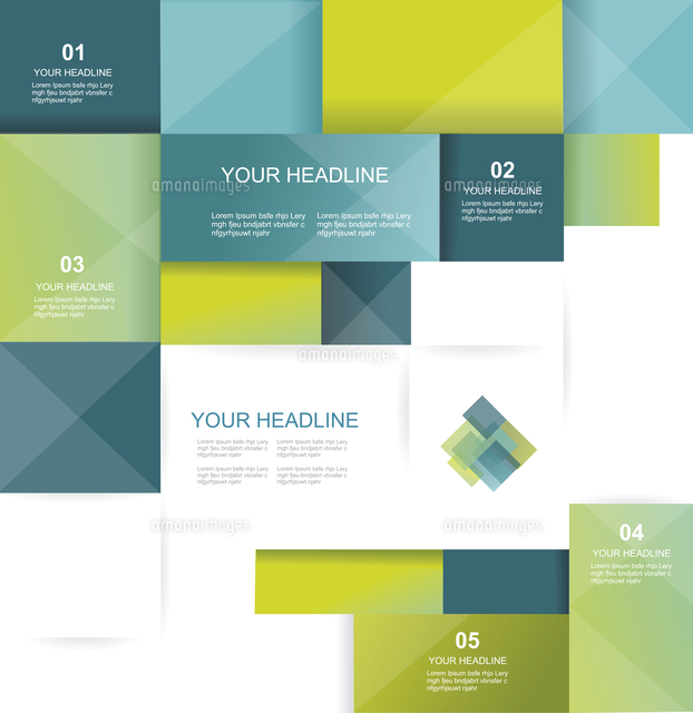 vector brochure template design with cubes and squares elements
