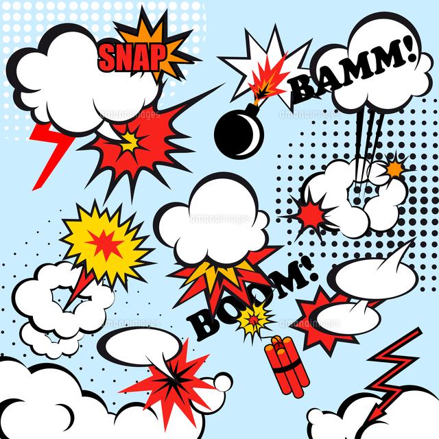 boom comic snap humor fun template design for superhero book vector