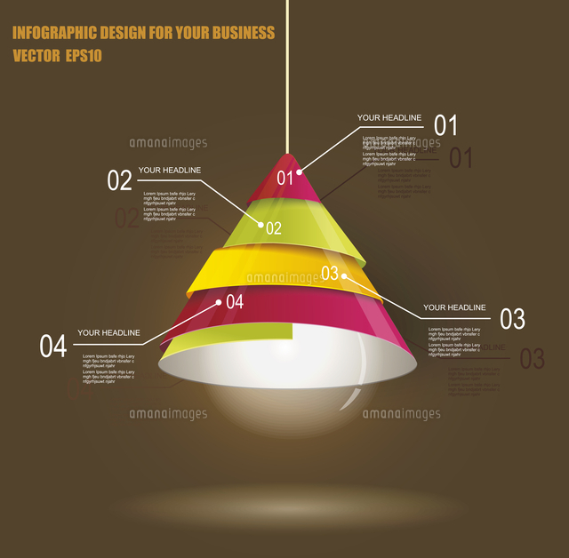 iinfographic template with light bulb 60016004240 写真素材