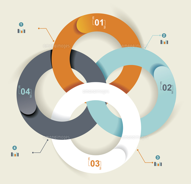 business abstract circle icon corporate media technology styles