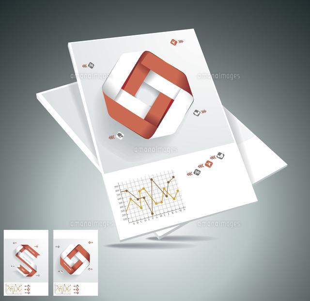 magazine cover layout design vector 60016004863 写真素材