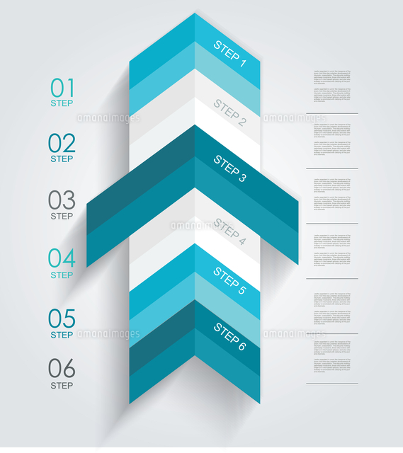 minimal infographics or step banners template in arrow style vector