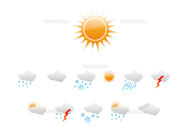 vector illustration set of elegant weather icons for all types of