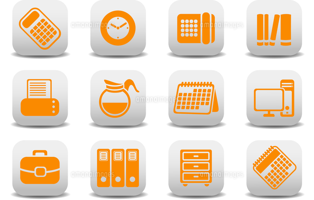 Vector illustration of office equipment icons. You can use it for your website, application or prese