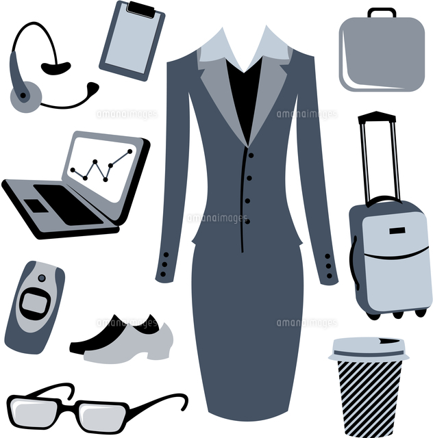 vector illustration of bussiness woman accessories set 60016009284