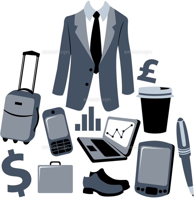 vector illustration of bussiness man accessories set 60016009288