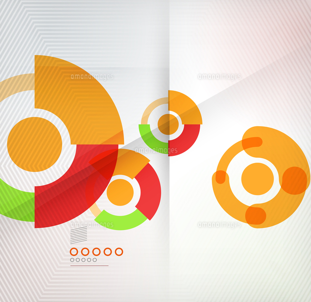 colorful corporate abstract circles design templates for business