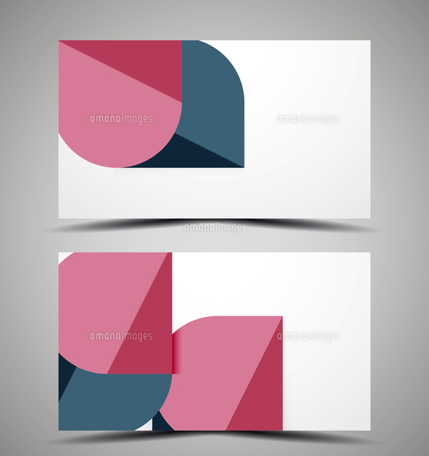 vector business card design template colorful geometric shapes