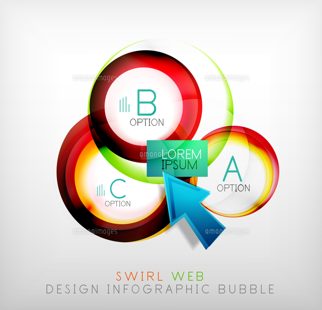 swirl web design infographic bubble flat concept can be used as