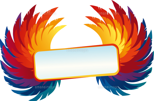 vector wings with bright frame rainbow template 60016019550