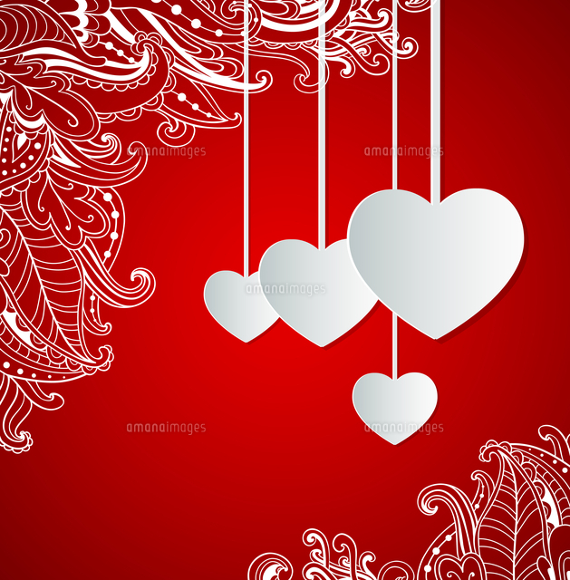 red decorative vector background with hearts for valentine rsquo s