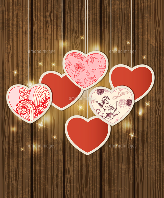 decorative vector background with hearts for valentine rsquo s day
