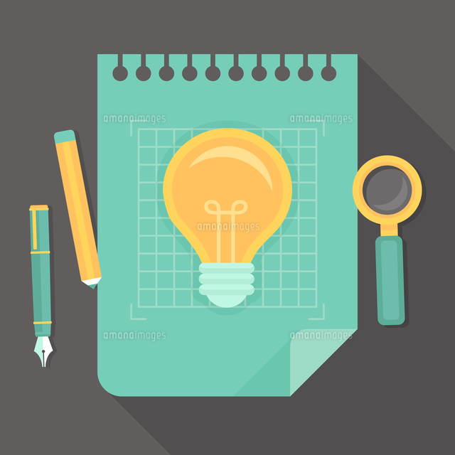 vector creative project icon in flat style innovation concept