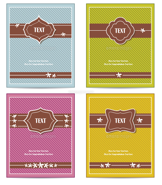 old vintage book cover set or template frame design for greeting