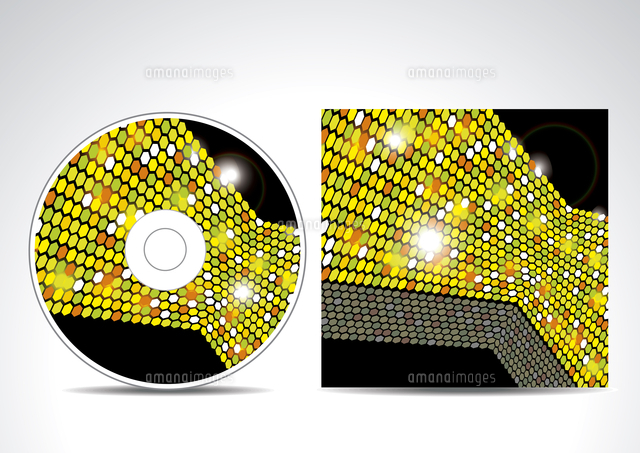 cd cover design with 3d presentation template 60016023757 写真