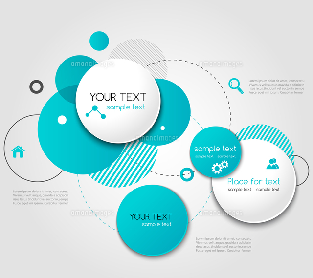 vector modern design circle template for infographics 60016026473
