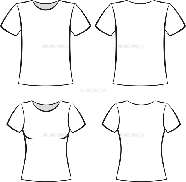 white t shirt clothing blank template vector illustration
