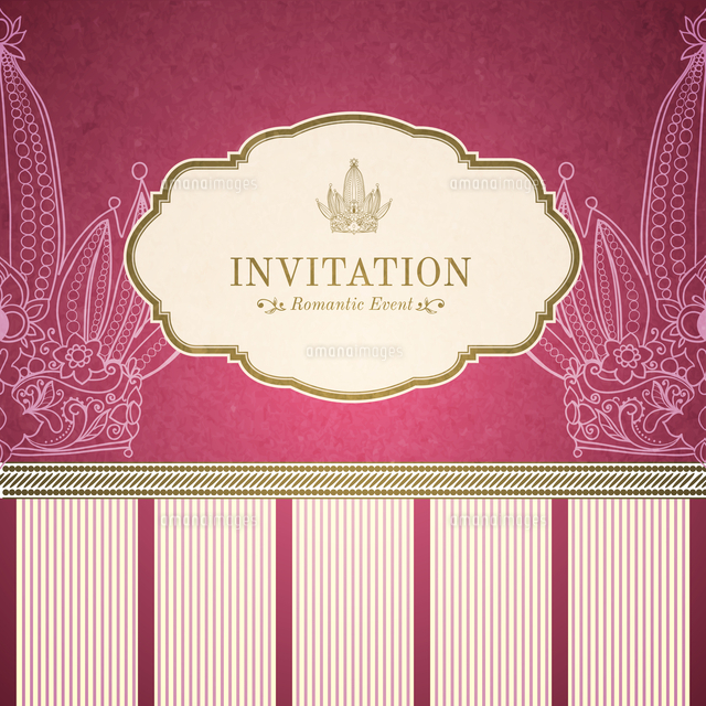 retro princess invitation template vector illustration 60016027399
