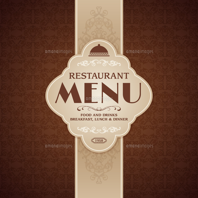 restaurant cafe menu brochure template with cooking elements vector