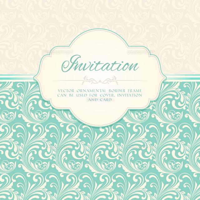ornamental pattern invitation card or album cover template vector