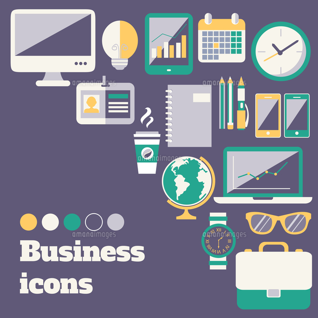 business office accessories supplies and electronic gadgets poster