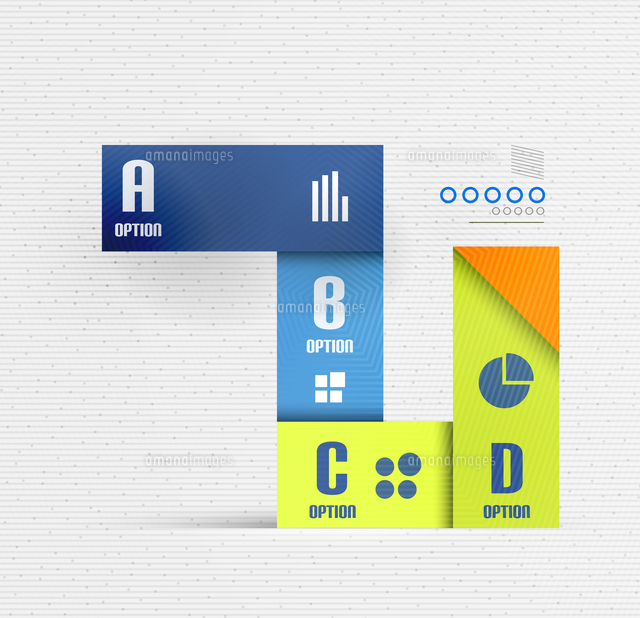 stripes option select infographic design template for business