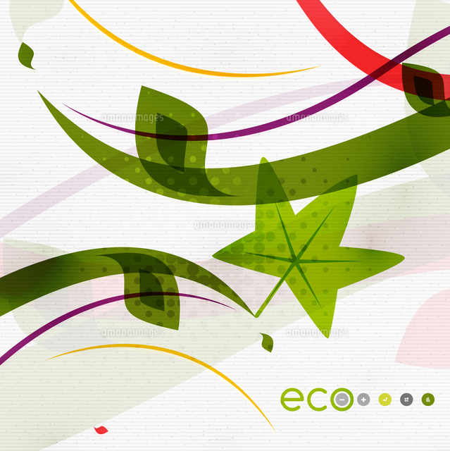 green eco nature minimal floral concept flying leaves nature