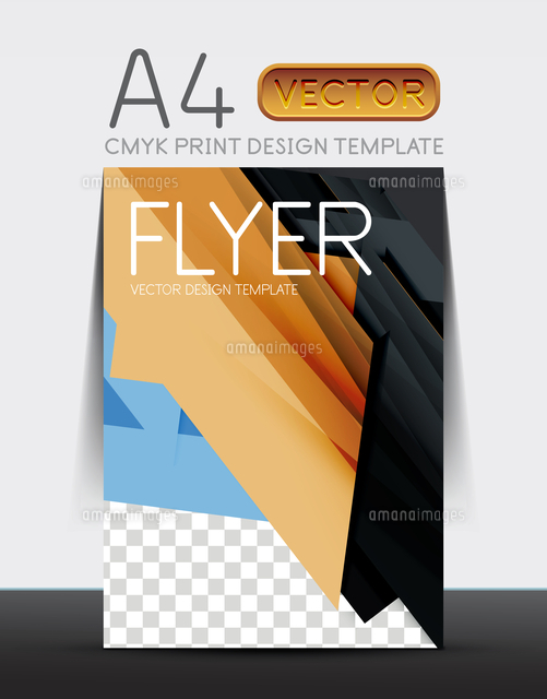 abstract modern flyer brochure design template with sample text or